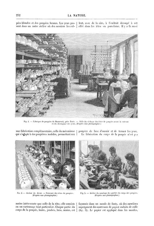 ジュモー人形工場の様子