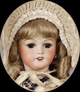 スリーピングアイSE06アートギャラリーライフが管理しているビスクドールのうち、ジャーマンドールの中では珍しいほど張り詰めた上品さを誇るキャサリンのヘッドモールドを使用した仕掛け人形をご紹介いたします。