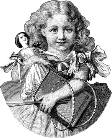 人形遊びをする女の子