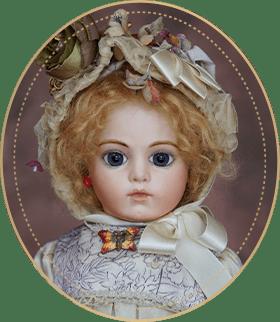 ブリュー・ジュンBJ11アートギャラリーライフが管理しているビスクドールのうち、可愛らしい口元と美しい色の大きな瞳が特徴的なブリュー・ジュンをご紹介いたします。