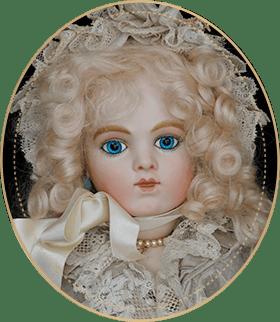 ブリュー・ミランダ(メリンダ)BM02アートギャラリーライフが管理しているビスクドールのうち、碧い瞳を持つ気品のあるパリジェンヌのようなブリュー・ミランダ(メリンダ)をご紹介いたします。